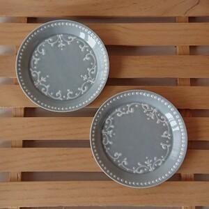トルコ唐草 豆皿 2枚 波佐見焼 小皿 かわいい おしゃれ アクセサリー入れ