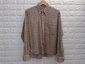 A BATHING APE BAPE アベイジング エイプ 長袖シャツ ネルシャツ ロゴ刺繍 メンズ チェック S