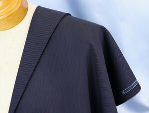 ●スキャバル社・高額品シリーズ「ジェイソン」super150・定番の濃紺ヘアライン・生地価格42万円・長さ2.9m