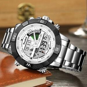 ★交渉★8-242 腕時計 レロジオmasculino readeel高級ブランドアナログデジタルスポーツ デュアルディスプレイledクォーツ男性 ビジネス