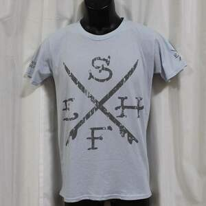 エドハーディー ed hardy メンズ 半袖 Tシャツ ブルー M02SUR179 新品