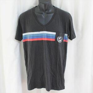 ゼインローブ ZANEROBE メンズ半袖VネックTシャツ ブラック Mサイズ NO62 新品