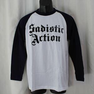 サディスティックアクション SADISTIC ACTION メンズ長袖Tシャツ Mサイズ NO15 新品