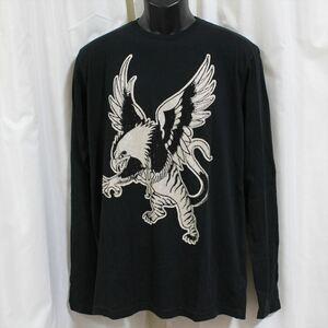 エドハーディー ED HARDY メンズ長袖Tシャツ ブラック Mサイズ LT409 新品 ドン・エド・ハーディー