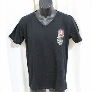 エドハーディー ED HARDY メンズ半袖Tシャツ M02CMV028 ブラック Mサイズ 新品 ドン・エド・ハーディー