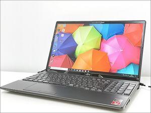 徳山)【美品】FUJITSU 15.6型ノートパソコン LIFEBOOK FMVA43E1BJ Winows10 AMDRyzen3 8GB SSD256GB Office付 0522 E210404Y01A HD04B