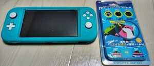 Nintendo Switch Lite 本体 ターコイズ ジョイコンアシストリング付き