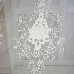 ley15 レースカーテン オーダー ホワイト 刺繍 おしゃれ のれん カフェカーテン カーテン アジャスターフック付き 突っ張り棒を通すタイプ
