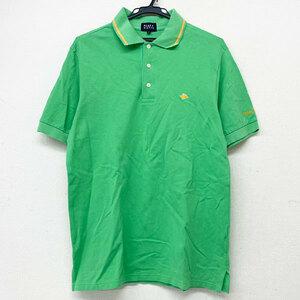 中古 ■★PEARY GATES/パーリーゲイツ ゴルフ 半袖 ポロシャツ 綿100% 日本製 ライトグリーン/緑 6 【KT30】