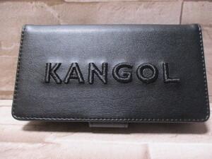 即決 送料無料★iPhone11 XR兼用 3D刺繍 手帳型★KANGOL アイフォン スマホ 携帯 ケース カバー エコレザー カンゴール 黒 ブラック e2