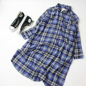 スタディオクリップ studio CLIP スタジオクリップ ネルシャツ シャツワンピース Mサイズ 21-0418bu19