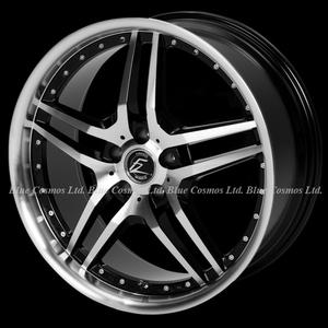 ブラポリxDCリム ツインスポークリム深度45mm★タイヤ付セット 20/30アルファード ヴェルファイア ハリアー セルシオ
