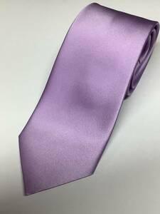 新品 パープル系の無地ソリッド風織柄 日本製ネクタイ シルク100%お買い得サービス
