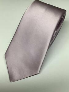 新品 薄いラベンダー系の無地ソリッド風織柄 日本製ネクタイ シルク100%お買い得サービス