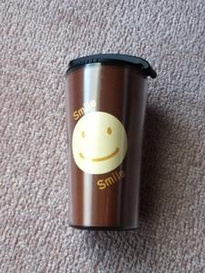 【未使用】『マイボトル・コーヒーカップ/ダイハツ スマイル』直飲み/携帯マグ/二重構造/断熱/自宅保管/レア