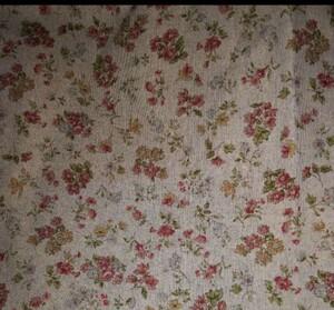 ハンドメイド、パッチワークに♪花柄×ドット リバーシブル生地 ピンク はぎれ 小花柄