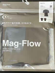【新品】C3fit シースリーフィット Mag-Flow マグフロー ブラック Vネックハーフスリーブ