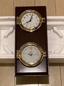【中古品】West Marine  Quarts Clocks and Barometer Plaque Set  時計 気圧計 セット #274847