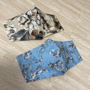ハンドメイド インナーシート インナーカバー 天使 花柄 エンジェル かわいい 2枚セット 立体 収納ポケット付きデザインNO17