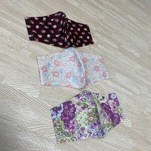 ハンドメイド インナーシート インナーカバー 立体 ガーゼ 麻混涼しい 花柄 ナチュラル エレガント 収納ポケット付 3枚NO34