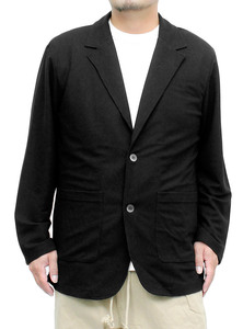 【新品】 4L ブラック テーラードジャケット メンズ 大きいサイズ ドライ ワッフル UVカット 薄手 吸汗速乾 抗菌消臭 サマージャケット