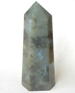 送料710円 特大168mm 天然石ラブラドライト 原石 六角柱 パワーストーン 13-18