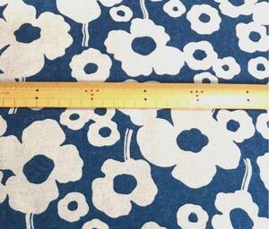 ハンドメイド 生地 綿麻キャンバス 花柄 1m