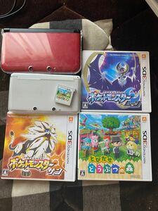 ニンテンドー3DS本体  3DSLL ポケモンサン ポケモンムーン とびだせどうぶつの森2本