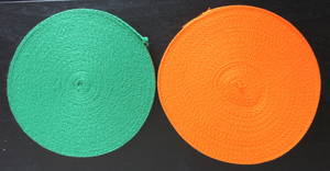 ★☆ 綾織テープ ☆ 綾テープ ☆ 21mm巾 ☆ 緑&オレンジ ☆ 2本セット ☆★