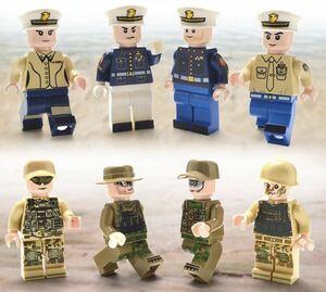 8体 軍人 ミニフィグ LEGO 互換 ブロック ミニフィギュア レゴ 互換 q