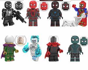 翌日発送 8体 スパイダーマン マーベルミニフィグ LEGO 互換 ブロック ミニフィギュア アベンジャーズ レゴ 互換 m30 jj
