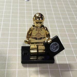 ミニフィグ レゴ LEGO 互換品 ミニフィギュア メタル光沢仕様 C-3PO c