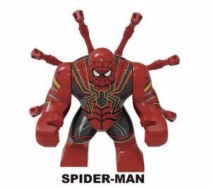 1体 マーベル アベンジャーズ スパイダーマン ミニフィグ LEGO 互換 ブロック ミニフィギュア レゴ 互換 p