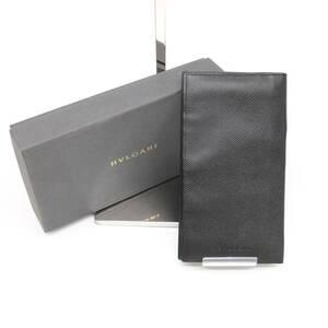 【お値下げ致しました】BVLGARI ブルガリ クラシコ 長財布 札入れ 財布 小銭入れ無し 黒 ブラック レザー 20308