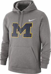 Nike Michigan Wolverines Grey Club Fleece Pullover Hoodie dunk ナイキ ミシガン フーディ ダンク パーカー トレーナー フーディー