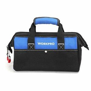 ◇●▽13-Inch WORKPRO ツールバッグ 工具差し入れ 道具袋 工具バッグ 大口収納 600Dオックスフォード ワイド
