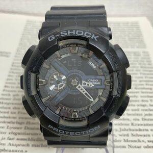 ★CASIO G-SHOCK デジアナ 多機能 メンズ 腕時計 ★ カシオ G-ショック GA-110 アラーム クロノ タイマー ブラック 稼動品 F3830