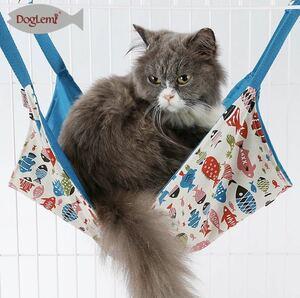 【送料無料】猫 ハンモック ニャンモック 新品 ケージ ベッド ブルー ペット ベッド おもちゃ 猫用 ネコ ねこ cat hammock 青