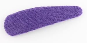 【即決】ヘアピン/パッチンどめ 大きめ アクリルウール くすみカラー フレームピン 楕円 p46☆紫/大人 子供 ジュニア 前髪とめ