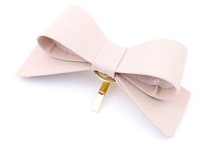 ポニーフック/シンプル しっかりリボン 無地 pn47☆ピンク/ヘアカフス ヘアアクセサリー 髪飾り ヘアゴム 結婚式 入学式 卒園式