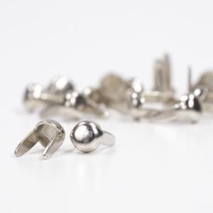 フラットラウンド型 スタッズ 2爪 [ ニッケル / 3mm ] スポッツ スタッズベルト 革細工 レザークラフト材料 メンズベルト自作