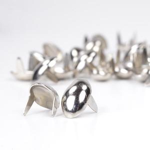 楕円 スタッズ 2爪 エクスプレススポッツ [ ニッケル / 16mm ] スタッズベルト 革細工 レザークラフト材料 メンズベルト自作 ハンドメイド