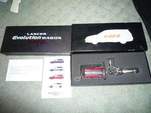 ランサーエボリューションワゴンMR 購入記念キーホルダー キーリング ランエボ Ⅸ 三菱自動車 ラリーアート RALLIART 4G63 おまけ付き