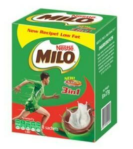 香港直送品 / Nestle Milo 3 In 1 Nutritious Malt Drink 栄養機能食品 カルシウム 朝食 牛乳 ココア ネスレ ミロ◆27g * 8個入り