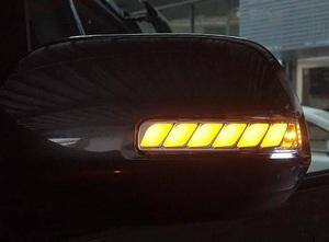 流れるウィンカー♪ トヨタ 150 ランドクルーザー プラド ドアミラーLEDライトバー デイライト ウェルカムランプ 左右セット 新品 保証付