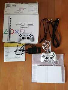 良品 SONY PS2 PlayStation2 プレステ2 本体1式 SCPH-75000 薄型 動作確認済 白 即決