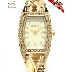 DKNY(ダナキャラン) 腕時計 - NY-4636 レディース ラインストーン ホワイトシェル