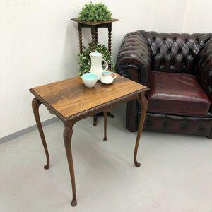 アンティーク 家具 サイドテーブル マホガニー材 イギリス 英国 コーヒーテーブル ビンテージ家具/ 輸入家具 店舗什器 621A