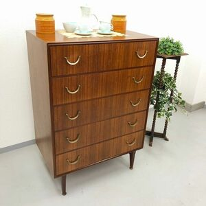 アンティーク 家具 チェスト 1960年頃 チーク材 イギリス 英国 たんす ビンテージ家具/ 輸入家具 ディスプレイ 収納 店舗什器 637A