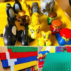 LEGO どうぶつ 知育玩具 レゴ 楽しいどうぶつえん1歳半から シャチきりんペンギンぞうカバとらサル動物 ブロック